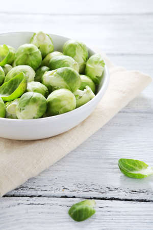 Tasty Brussels sprouts in a bowl, food