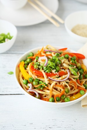 noodles: noodles  in white bowl, chinese food