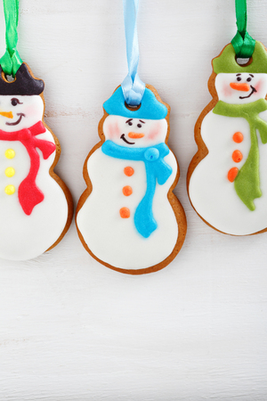 xmas background: Christmas cookies on a white background, xmas