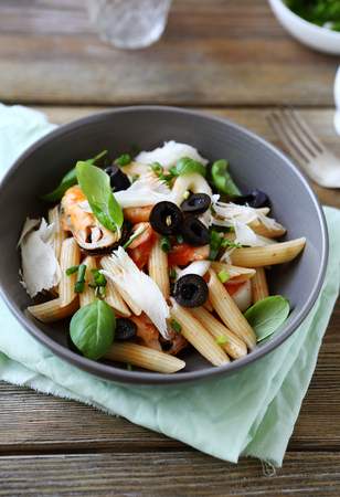 penne: pasta penne in bowl, food