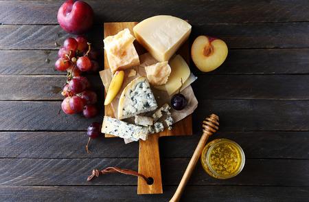 濃いチーズ組成、トップ ビュー