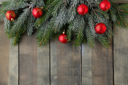 christmas backdrop: christmas backdrop with green branch Stock Photo