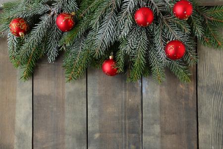 christmas backdrop: christmas backdrop with green branch Stock Photo