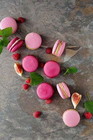 purple: french berry macaroons
