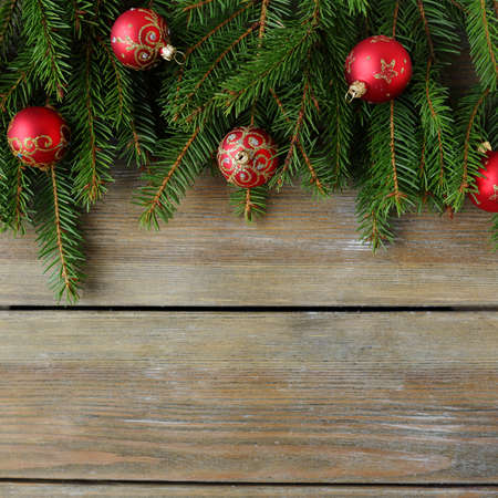 christmas backdrop: christmas background with bauble, rustic backdrop