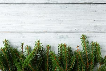 xmas background: background with green spruce, xmas Stock Photo