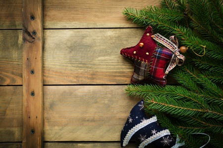 christmas backdrop: rustic wooden christmas backdrop with decorations