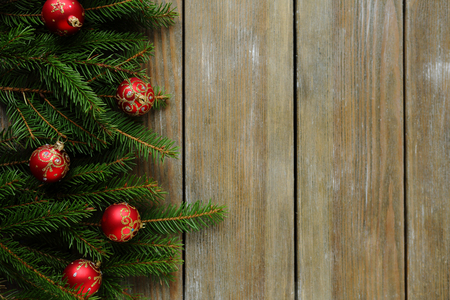 xmas background: background with green branch, xmas