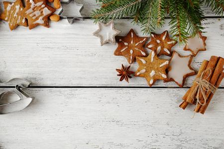 tablero: Vacaciones de galletas en pizarras, navidad Foto de archivo
