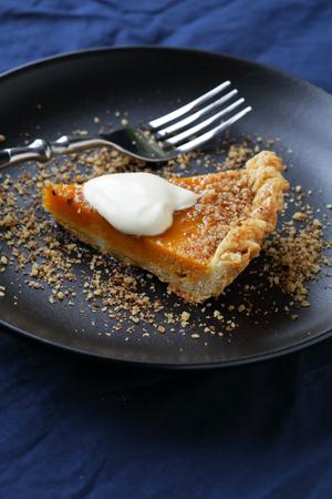 pumpkin pie: piece pumpkin pie, food closeup
