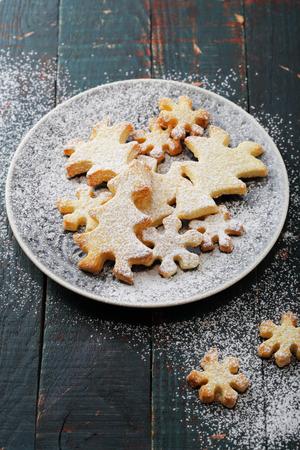 holiday food: christmas cookies on plate, holiday food