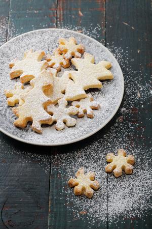 holiday food: baked christmas cookies, holiday food