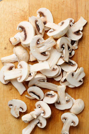 button mushrooms: white button mushrooms, food top view