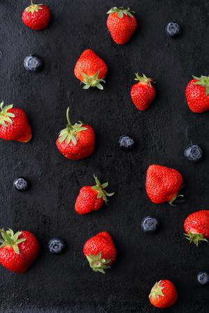 sweet strawberries food background, summer food Stock Photo