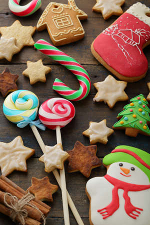 gingerbread cookies: gingerbread cookies, christmas sweets Stock Photo