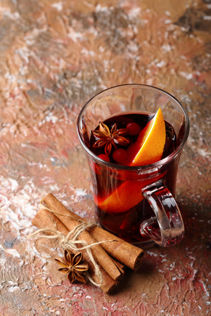 Chritmas beverage with spice, xmas
