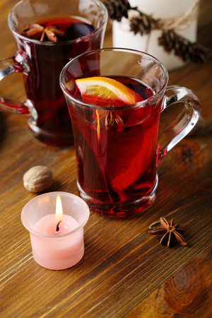 xmas red hot wine, punch with spice