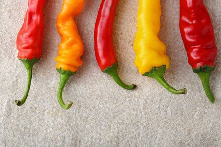 capsaicin: Red and yellow pepper, fresh vegetables
