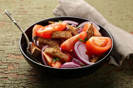 Vegan vegetables salad, food closeup Stock Photo