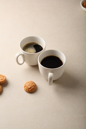 Two cups of coffee, hot drink
