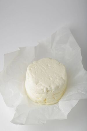 Fresh cottage cheese, food closeup