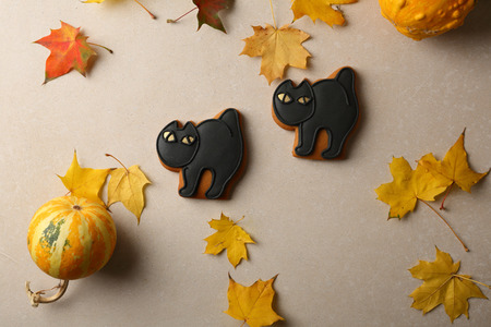 Black Halloween Cat cookies