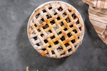 Sweet pie on concrete Stock Photo