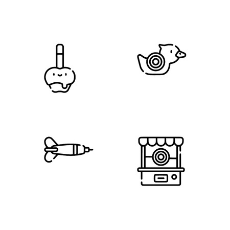 Amusement park. Set outline icon EPS 10 vector format. Professional pixel perfect black, white icons optimized for both large and small resolutions. Transparent background. Ilustrace