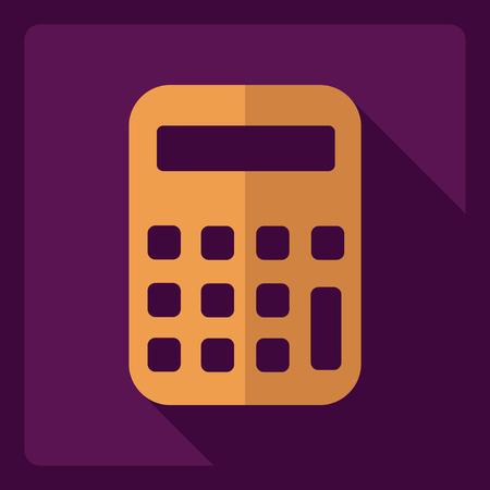 calculator: Flat modern design with shadow  Icon calculator
