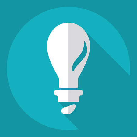 invent clever: Flat modern design with shadow  Icon lightbulb Illustration