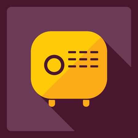 radio frequency: Flat modern design with shadow  Icon radio Illustration