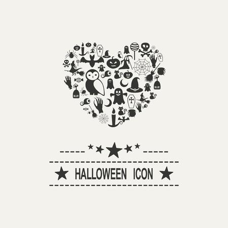 Halloween icons vector image Illustration