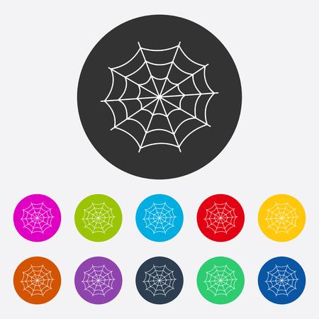 Flat modern design met schaduw spinneweb
