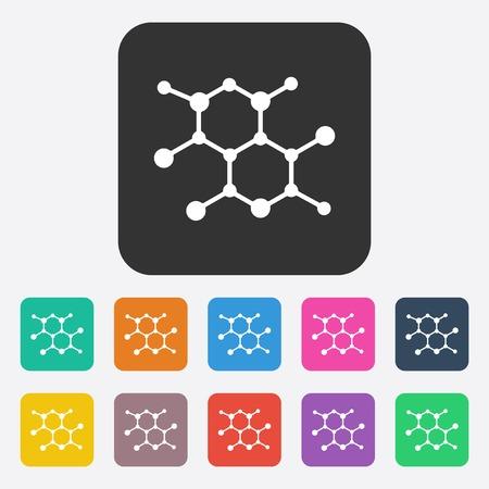sieve: Flat modern design with shadow molecular sieve