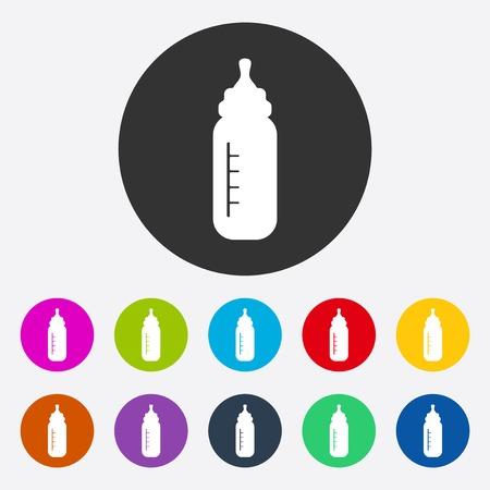 bottle feeding: Flat modern design with shadow Feeding Bottle