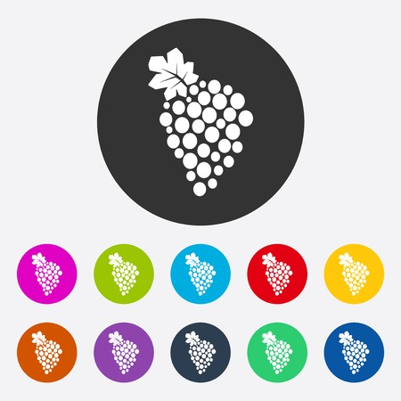 bunch: icon of fashion, style, bunch grapes
