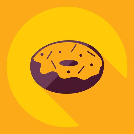 goodness: Flat modern design with shadow  Icon donut Illustration