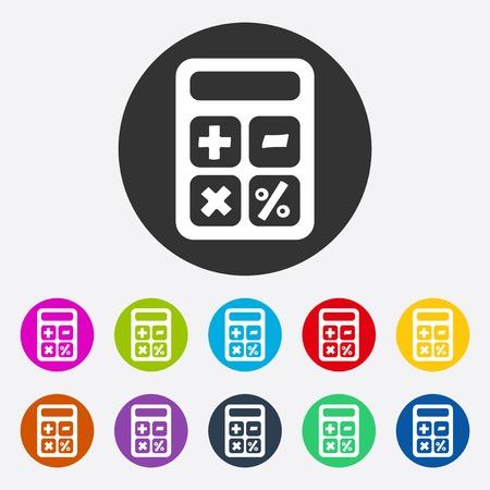 calculator: Flat modern design with shadow calculator