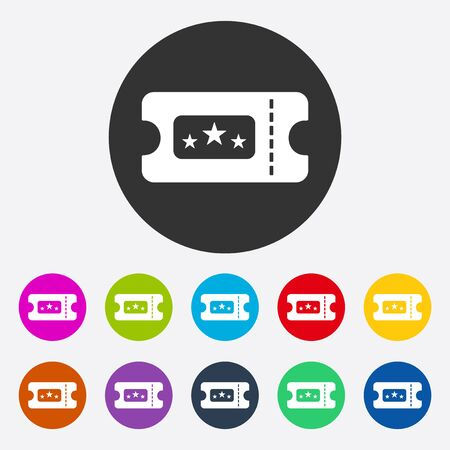 Flat modern design with shadow ticket to the cinema Ilustrace
