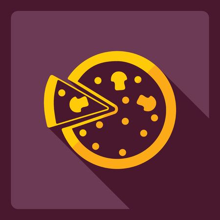dough: Flat modern design with shadow  Icon pizza Illustration