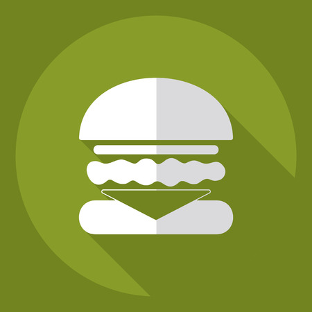 ready to eat: Flat modern design with shadow  Icon burger