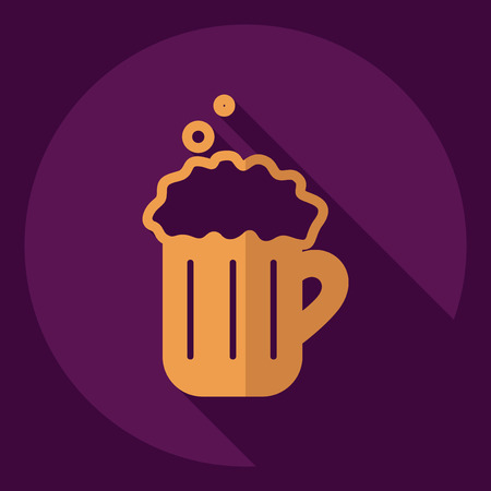 guinness: Flat modern design with shadow  Icon beer Illustration