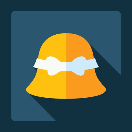 headwear: Flat modern design with shadow, Headwear Illustration