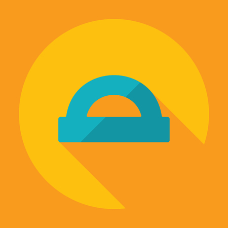 protractor: Flat modern design with shadow protractor