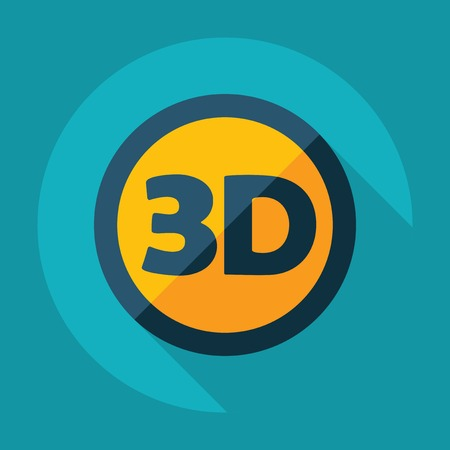 resolution: Flat modern design with shadow 3d video resolution Illustration