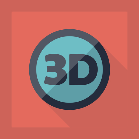 ultra modern: Flat modern design with shadow 3d video resolution Illustration