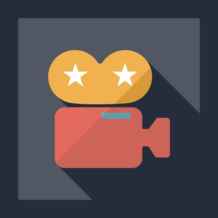 camcorder: Flat modern design with shadow camcorder