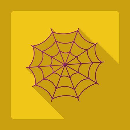 cobweb: Flat modern design with shadow cobweb Illustration