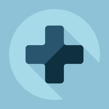 swiss insignia: Flat modern design with shadow medical cross Illustration
