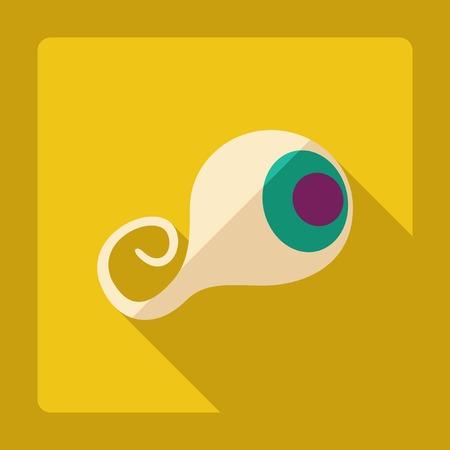 cornea: Flat modern design with shadow eye cornea